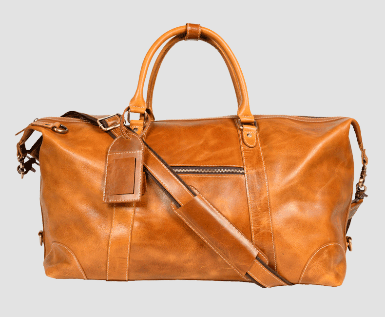Leather Travel Duffel Bag #4203