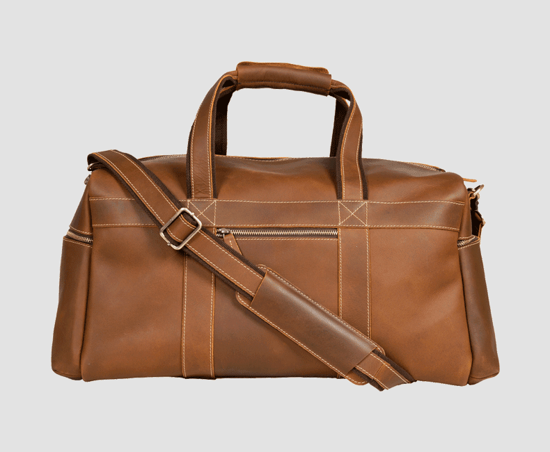 Leather Duffel Bag # Leather Travel Duffel Bag #4208
