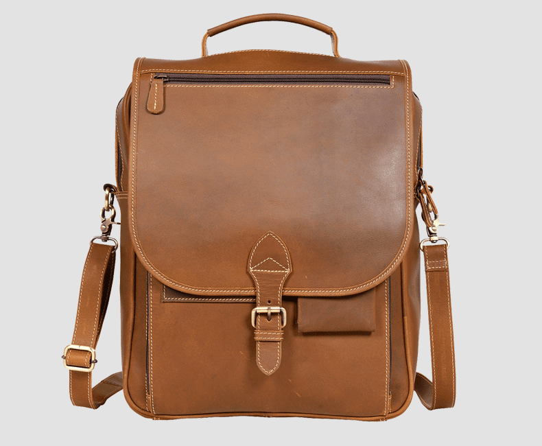Slim Leather Laptop Backpack #7204 C