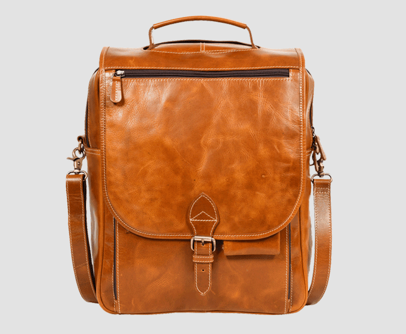 Slim Leather Backpack #7204
