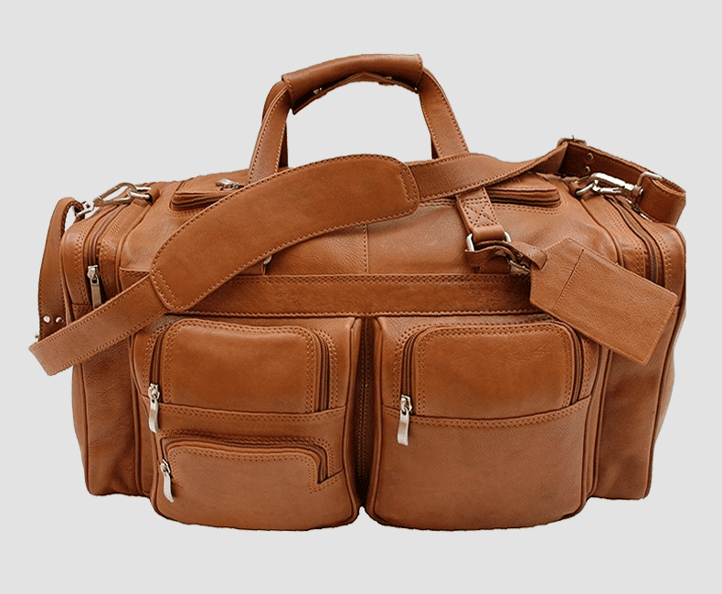 Leather Travel Duffel Bag #4207